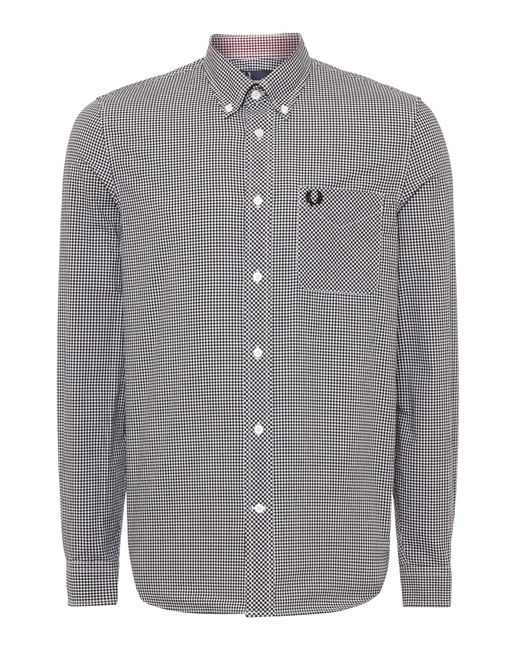 Fred Perry   Black Classic Gingham Shirt for Men   Lyst