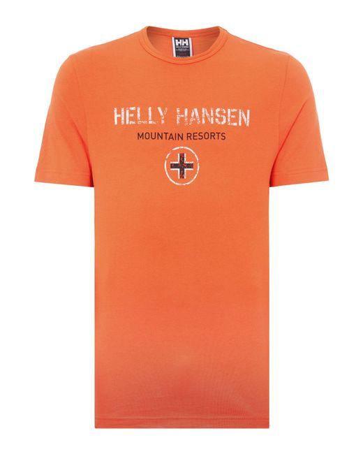 Helly Hansen | Orange Jotun Graphic T-shirt for Men | Lyst