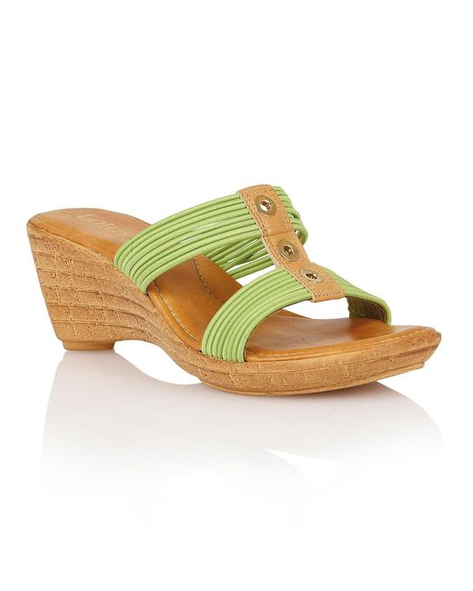 Lotus | Green Verona Wedge Sandals | Lyst