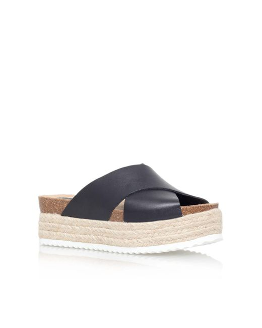Carvela Kurt Geiger | Black Kool Flat Platform Slip On Sandals | Lyst