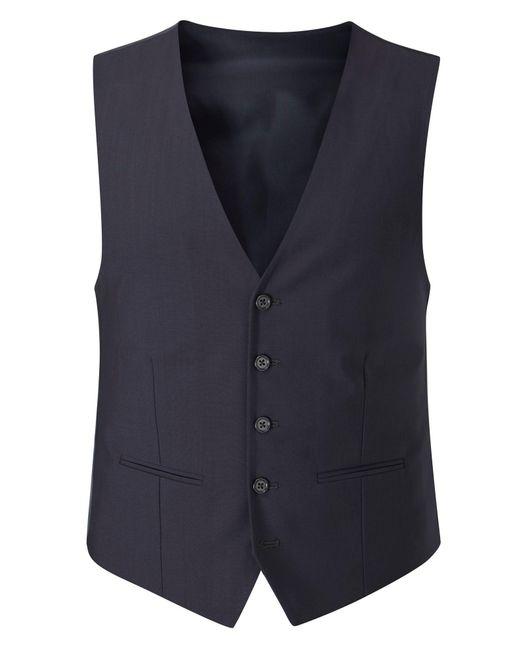 Skopes | Blue Piero Plain Tailored Fit Waistcoat for Men | Lyst