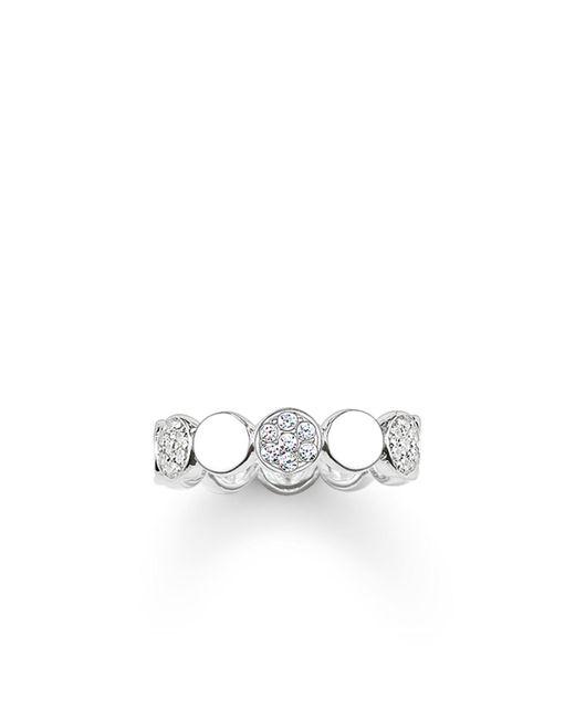Thomas Sabo | Metallic Sparkling Circles White Pave Silver Ring | Lyst