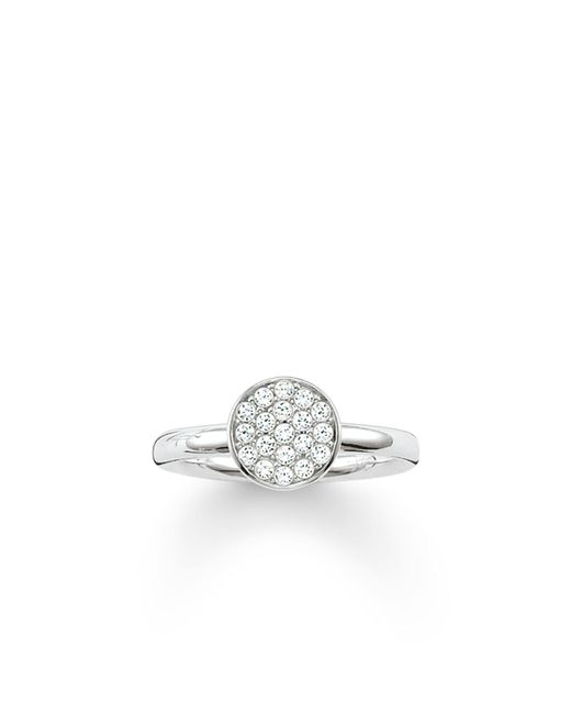 Thomas Sabo | Metallic Sparkling Circles Pave Set Silver Ring | Lyst