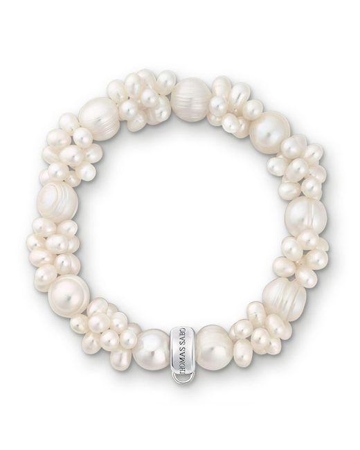 Thomas Sabo   Charm Club White Pearl Bracelet   Lyst