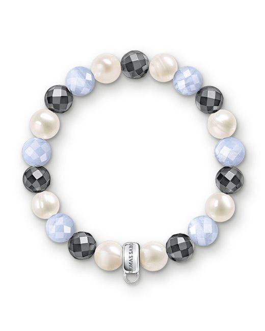 Thomas Sabo   Multicolor Charm Club Baby Blue Chalcedony Bracelet   Lyst