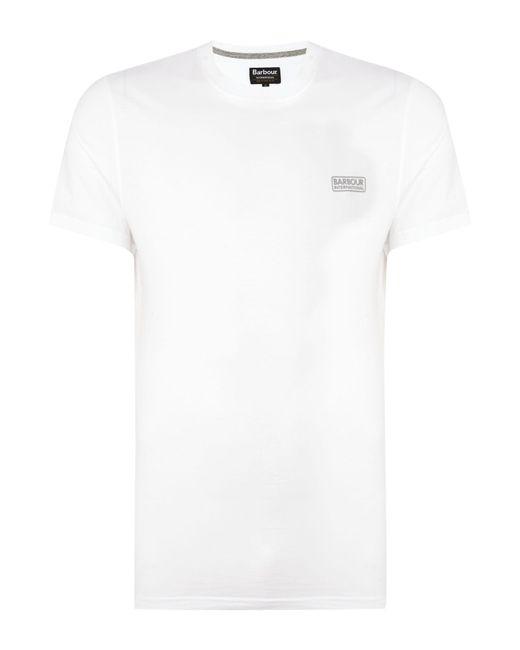 Barbour | White International Small Logo T-shirt for Men | Lyst