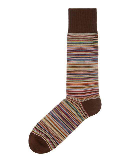 Paul Smith | Multicolor Striped Cotton-blend Ankle Socks for Men | Lyst