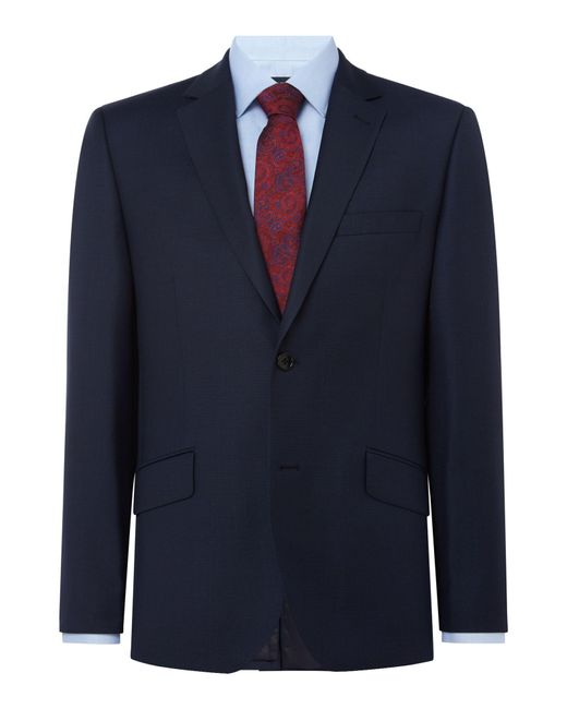 Howick | Blue Darby Birdseye Slim Fit Suit Jacket for Men | Lyst