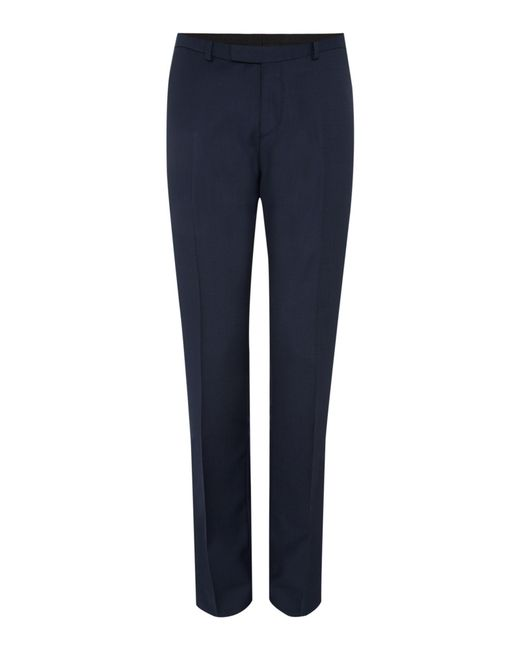 Howick | Blue Darby Birdseye Slim Fit Trouser for Men | Lyst