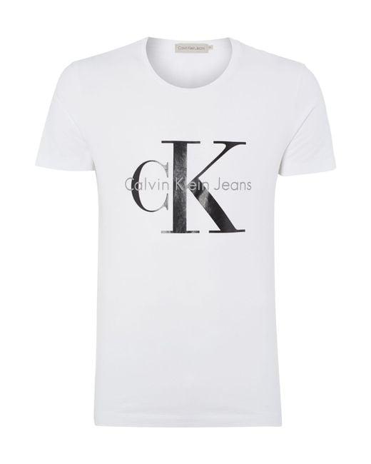 Calvin Klein   White Tee T-shirt for Men   Lyst
