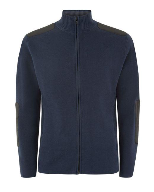 Victorinox | Blue Karl Full Zip Cardigan for Men | Lyst