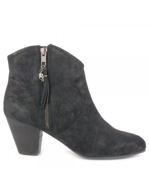 Ash | Black Jess Suede Ankle Boots | Lyst