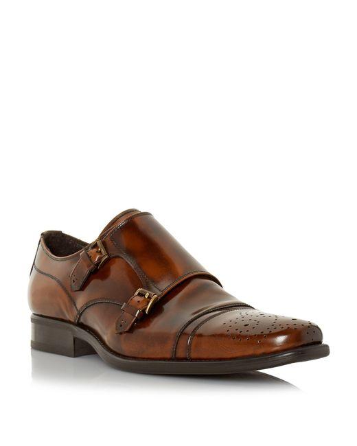 Bertie | Brown Reggi Double Toecap Monk Shoes for Men | Lyst