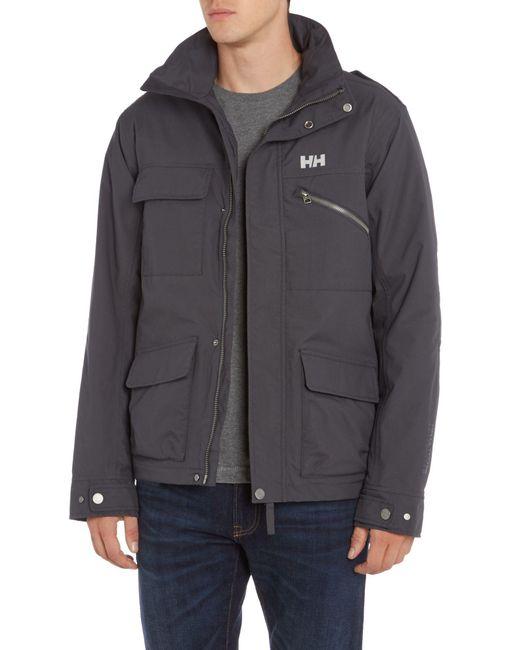Helly Hansen Universal Moto Insulated Rain Jacket In Gray