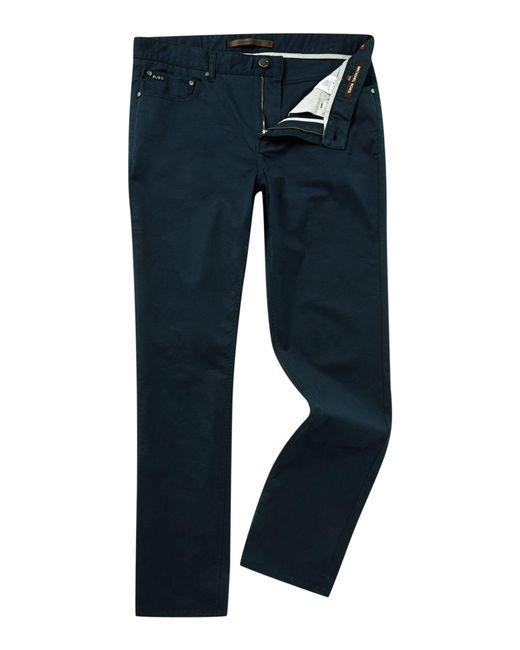 Michael Kors | Blue Slim Fit 5 Pocket Twill Jean for Men | Lyst