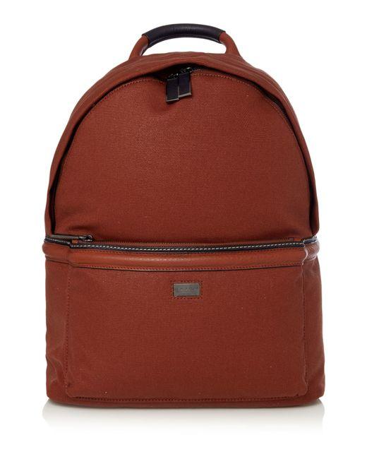 ted baker brandor canvas and leather backpack in brown for. Black Bedroom Furniture Sets. Home Design Ideas