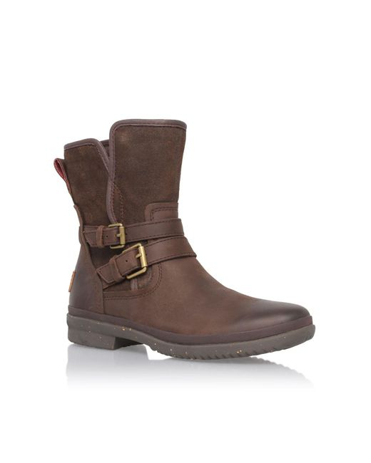 Ugg | Brown Mini Bailey Bow Sheepskin Boots for Men | Lyst