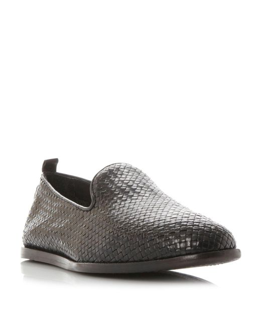 H by Hudson | Black Ipanema Woven Loafers for Men | Lyst