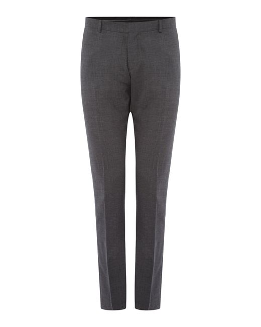 SELECTED | Gray Mylo Don Plain Weave Suit Trousers for Men | Lyst
