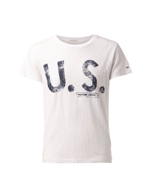 Tommy Hilfiger | White 8 T-shirt for Men | Lyst