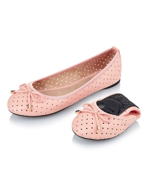 butterfly twists ballerina shoe in pink lyst. Black Bedroom Furniture Sets. Home Design Ideas
