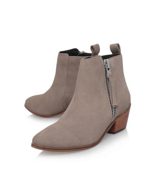 carvela kurt geiger shooter low heel ankle boots in gray