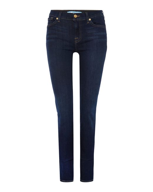 7 For All Mankind   Blue Roxanne Skinny Rinse Jeans   Lyst