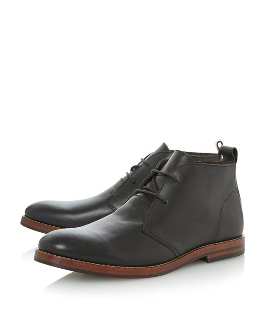 bertie mase 2 eye lace up boots in black for lyst