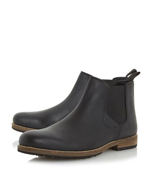 howick catfish cleated sole chelsea boots in black for