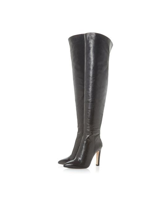 dune black swifte knee high boots in black lyst