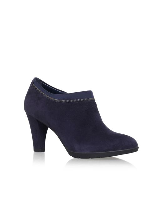 Anne Klein | Blue Dalayne High Heel Ankle Boots | Lyst