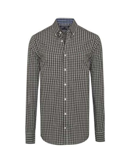 Tommy Hilfiger Gingham Print Shirt In Green For Men Lyst