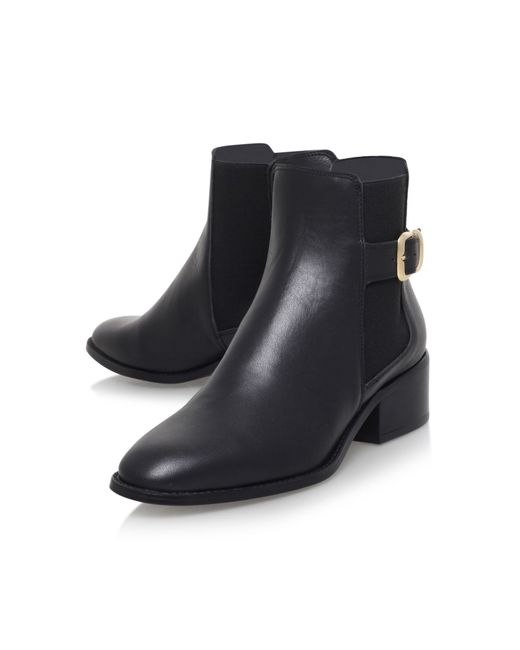 kurt geiger flat ankle boots in black lyst