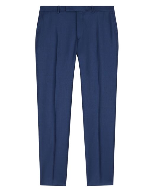 Jaeger | Blue Wool Regular Fit Suit Trousers for Men | Lyst