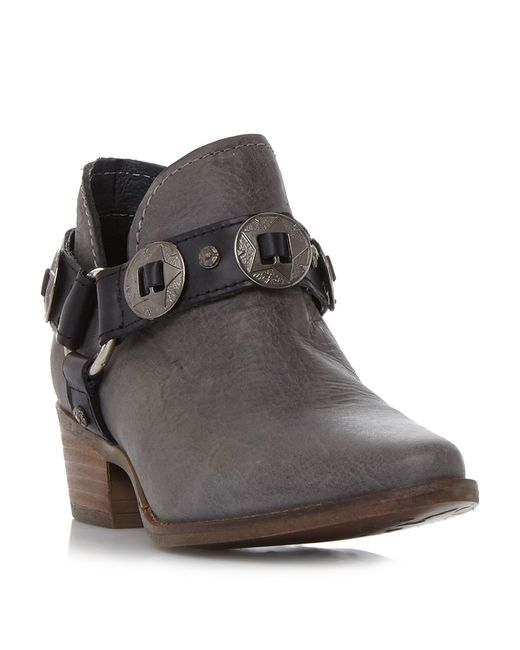 Steve Madden | Gray Aces Studded Ankle Boots | Lyst