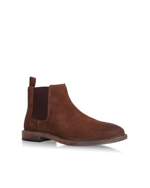 kg by kurt geiger hadleigh flat chelsea boots in brown for
