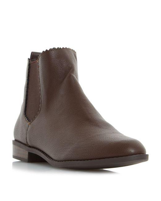 Dune | Brown Paten Gimp Edge Chelsea Boots | Lyst
