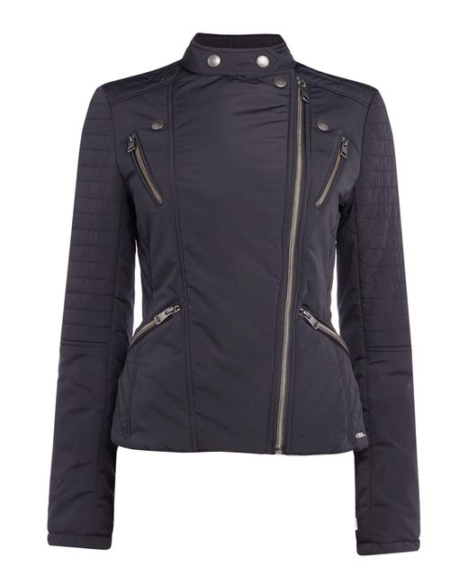 Calvin Klein | Oliani Padded Motorbike Style Jacket In Black | Lyst