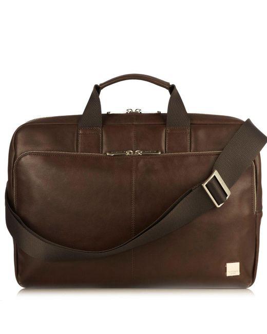 Knomo | Brown Newbury 15 Briefcase Bag for Men | Lyst