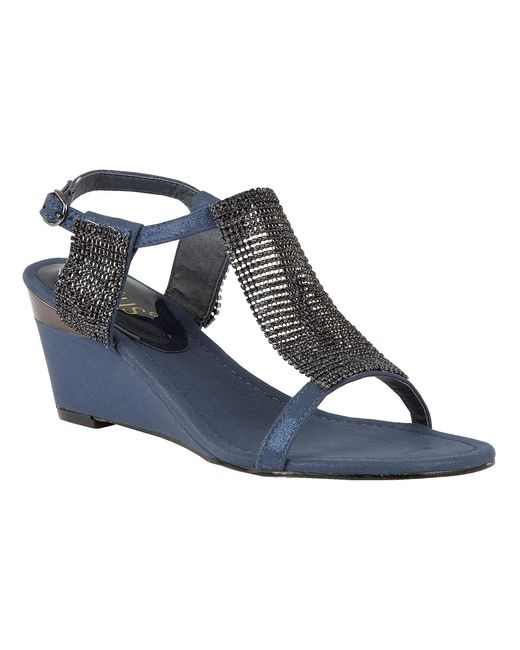 Lotus | Blue Klaudia Wedge Sandals | Lyst