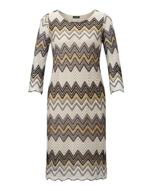 James Lakeland | Metallic Zig Zag Lace Dress | Lyst