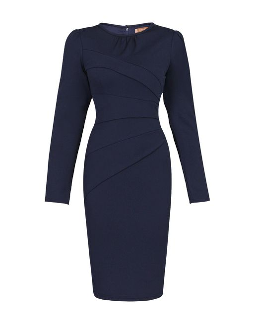 Jolie Moi | Blue Asymmetric Folded Bodycon Dress | Lyst