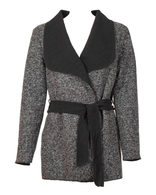 Feverfish   Gray Booklay Belted Jacket   Lyst