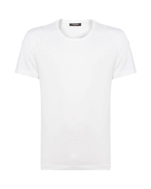 Calvin Klein   White Jato Jersey T-shirt for Men   Lyst