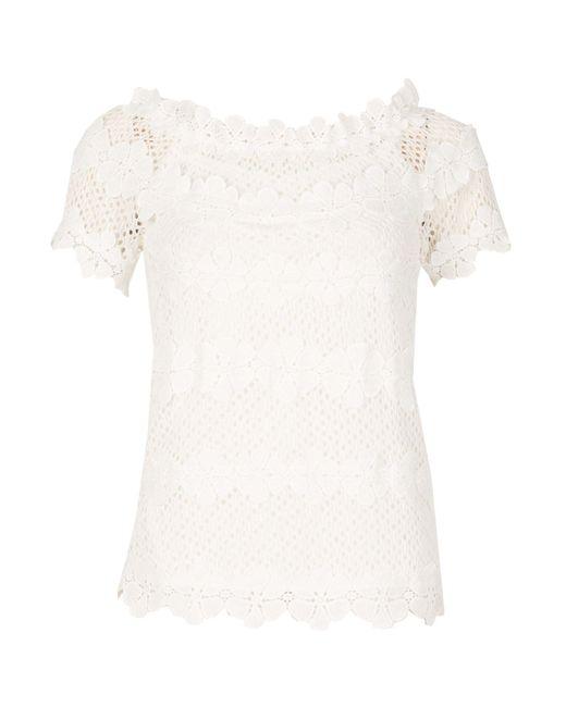Izabel London | White Floral Applique Top | Lyst