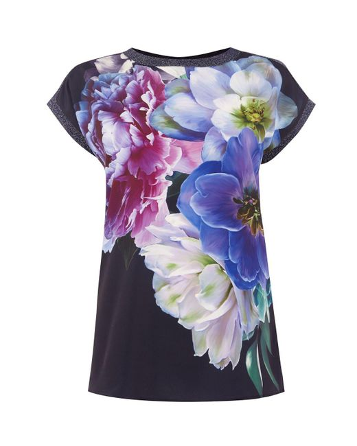 Oasis | Blue Digital Floral Dream Tee | Lyst