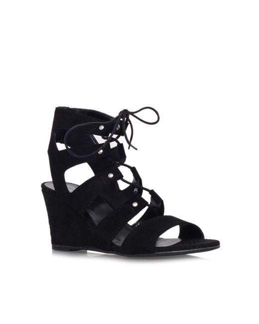 Carvela Kurt Geiger | Black Khristie Mid Wedge Heel Shoe Boots | Lyst