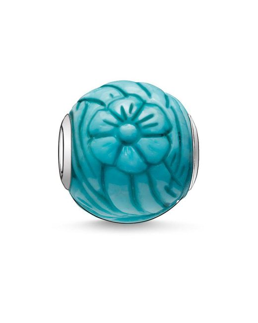 Thomas Sabo | Blue Karma Bead Sunflower | Lyst