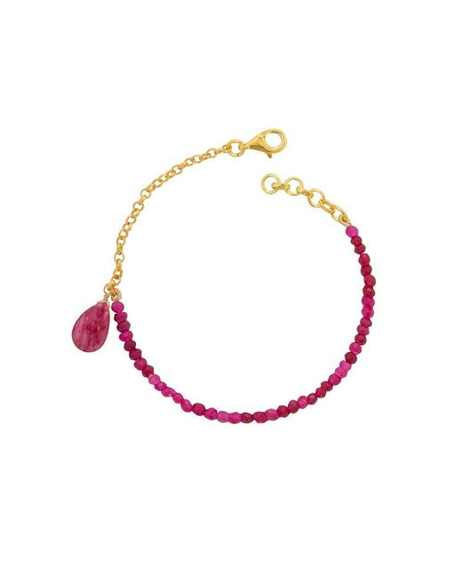 Juvi Designs | Pink Gold Vermeil Meet In The Middle Bracelet | Lyst