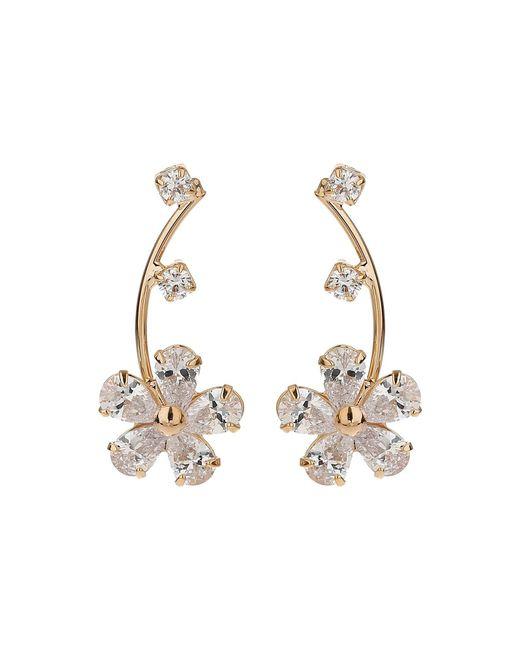 Mikey | Metallic Cubic Stem Daisy Flower Earring | Lyst